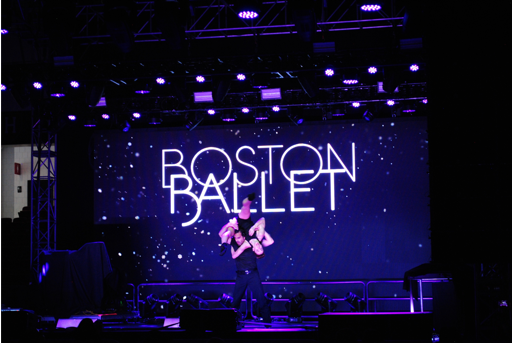 The Boston Ballet performs at the Boston Calling Arena, May 26, 2019. Photo: Trevor Bishai/WHRB